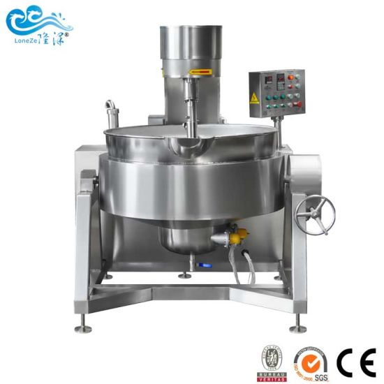 China Automatic Large Capacity Thermal Oil Bean Paste Jacketed Kettle with Bvsgs Approved