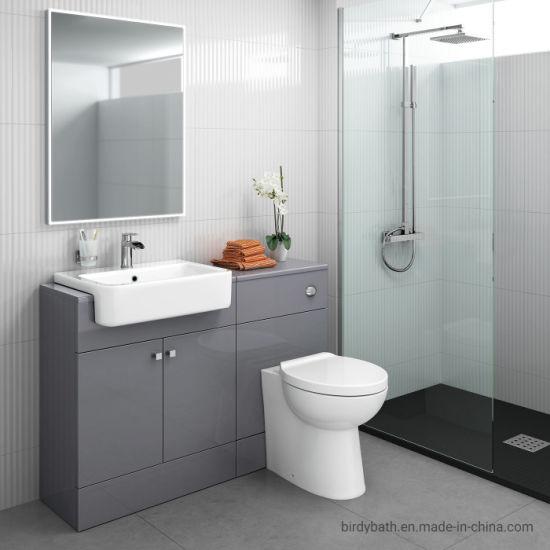 China Bathroom Toilet And Furniture Storage Vanity Unit Sink Basin