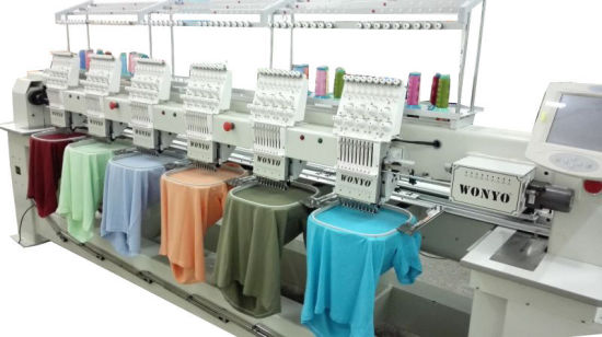 Wonyo 6 Head Tubular Embroidery Machine for Cap, T Shirt and Flat Embroidery pictures & photos