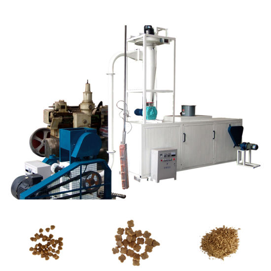 environment Friendly Dry Fish Feed Pellet Production Line/Floating Fish Pellet Mill/Poultry Feed Mixing Machine for Sale pictures & photos