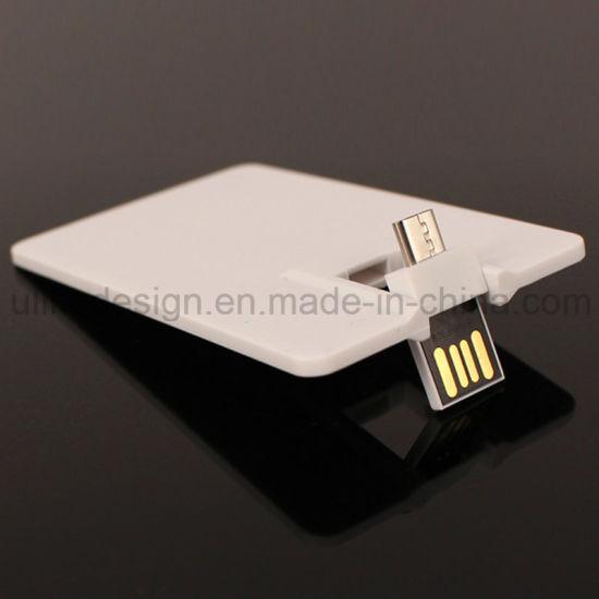 USB Card Type Promotion Phone Computer 128GB OTG USB Flash Drive Pen Drive