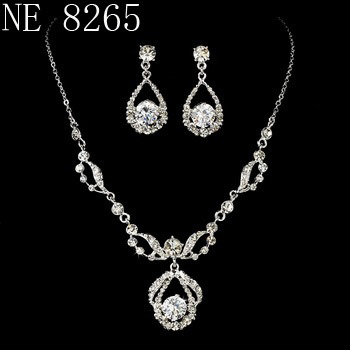 China Bridal Jewelry Set Wedding Jewelry Bridal Necklace Earring