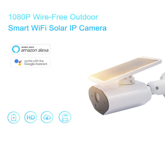 Clouds Outdoor 1080P HD Wire-Free WiFi Wireless CCTV IP Security Camera  Solar Power