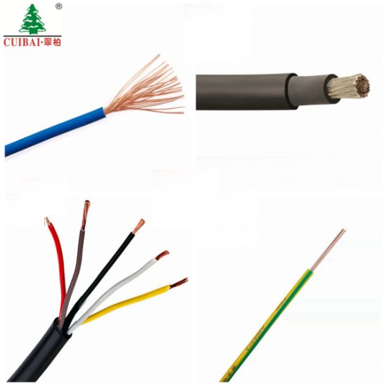 TUV 4/6 Sq mm H05VV-F Low Smoke Halogen Free Stranded Tinned Copper/CCA Conductor Building PVC/PE/ XLPE DC Solar Cable Flexible Wiring Lighting Electrical Wire