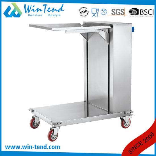Manufactory Full Size Stainless Steel Easy Take Stacking Tray Dispenser with Wheels pictures & photos