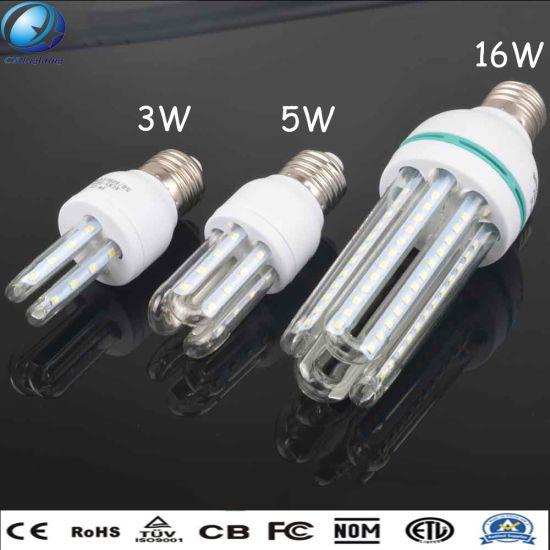 16W E27 4u Highlight Clear Milky Glass U Shape LED Energy Saving Lamp