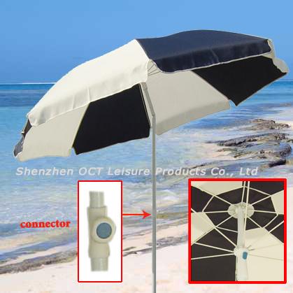 Fiberglass Beach Umbrella with 150GSM Polyester (OCT-BUSTFB)
