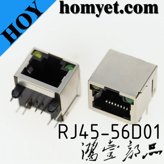 Professional Manufacturer RJ45 Socket Connector with LED pictures & photos