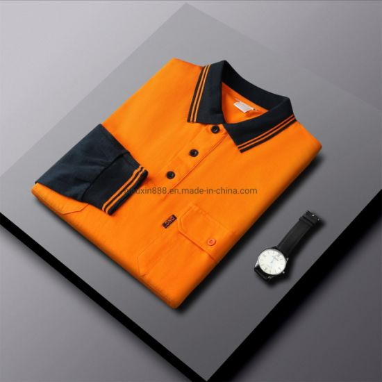 Workwear Safety Apparels Hivis Long Sleeve Polo Shirt