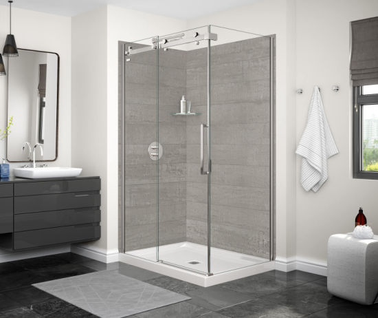 China Shower Cubicle Aluminum Profile, Glass Bathroom Partition Walls
