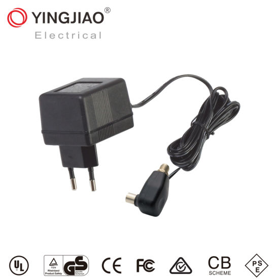 Factory Yingjiao&OEM 1.2W AC DC Linear Power Adapter for CATV