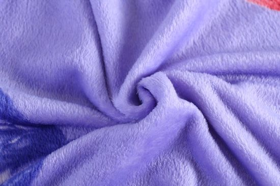 Wholesale Soft Flower Printed Polyester Flannel Fleece Fabric for Blankets Tartan