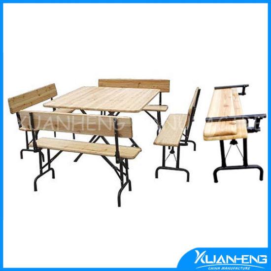 Children's Beer Garden Folding Wood Table Set