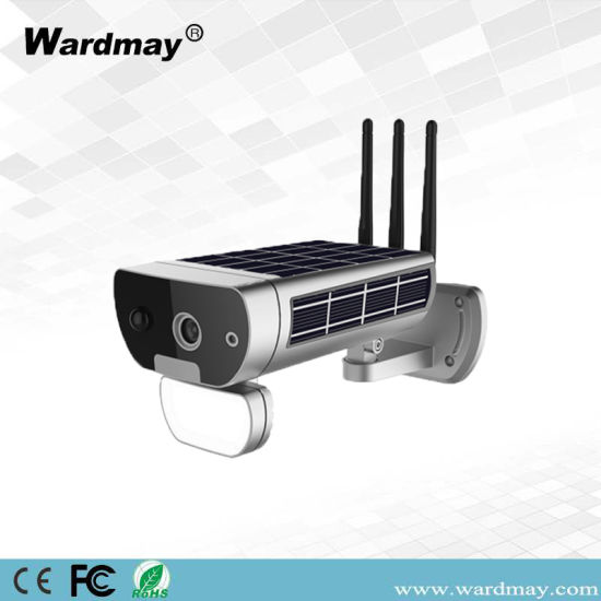 Wardmay 1080P P2p Outdoor IP66 Waterproof Fast Charging Bullet Solar WiFi Camera