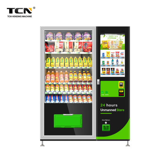 Tcn-Csc-10c (V32) New Model Popular Automatic Snack Drink Vending Machine with 32 Inches Screen