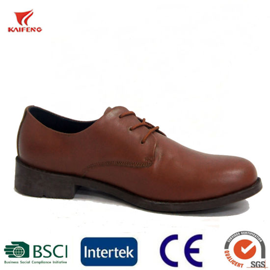 Cool Men Lace up Style Brown Uniform Wedding Dress Shoes pictures & photos