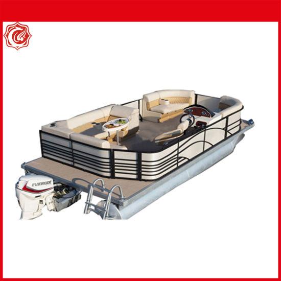 Chinese Factory 5.79m Luxury Party Aluminum Pontoon Fishing Yacht Boat