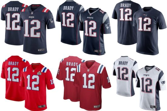 hot sale online 7a457 702ea Customized Patriots Tom Brady #12 Limited Authentic Game Football Jerseys