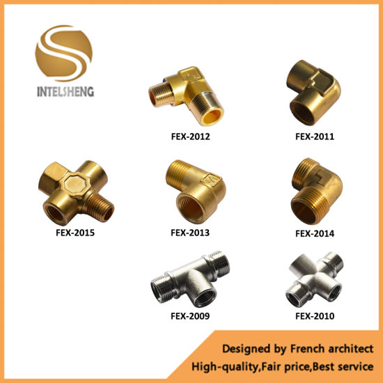 Brass Joint Pipe Fittings Cross Fitting (FEX-2015)