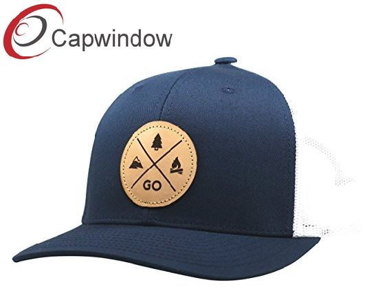 58e35df6207 Yupoong Snapback Hat Trucker Hat Baseball Cap Wirh Customized Leather Patch