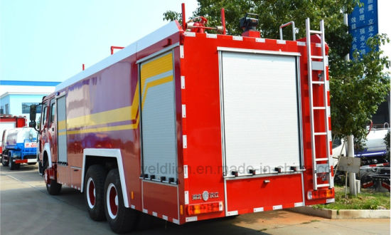 Sinotruk 6X4 10kl Water Tank and 2000L Foam Tank Factory Customize Fire Truck for Sale pictures & photos