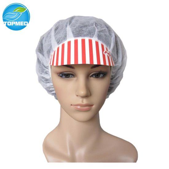 Disposable Nonwoven Worker Peaked Cap, PP Worker Caps