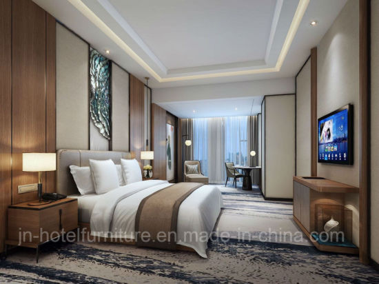 Chinese Wooden Luxury Hotel Standard Bedroom Furniture Sets (GN-HBF-66)