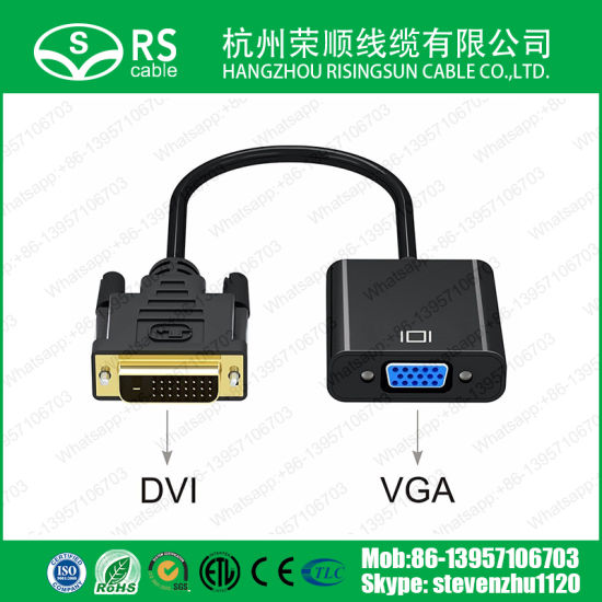 Factory Price DVI 24+1 to VGA Converter Cable 1080P pictures & photos