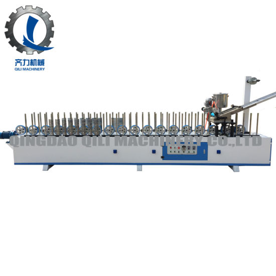 Ql300bf-B Hot Melt Glue Profile Wrapping Machine for Laminate Wood Veneer on MDF
