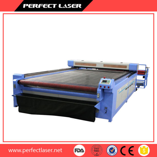 Auto Feeding CCD Camera Computerized Embroidery Textile Leather Wool Felt Cotton Home Fabric Laser Cutting Machine Price pictures & photos