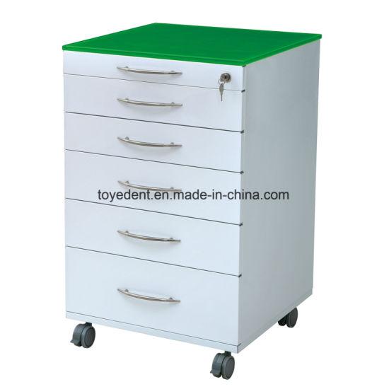 Movable Save & Durable Dental Cabinet Medical Furniture