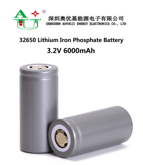 Rechargeable 5300mAh 5700mAh 6000mAh 32650 32700 LiFePO4 Battery Cell for E Scooter Solar Storage Telecom Base Station