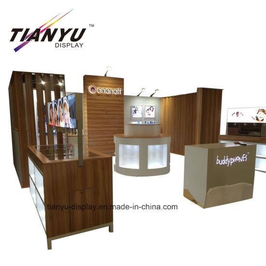 Trade Show Wooden Modular Exhibition Booth Design in Hongokong pictures & photos