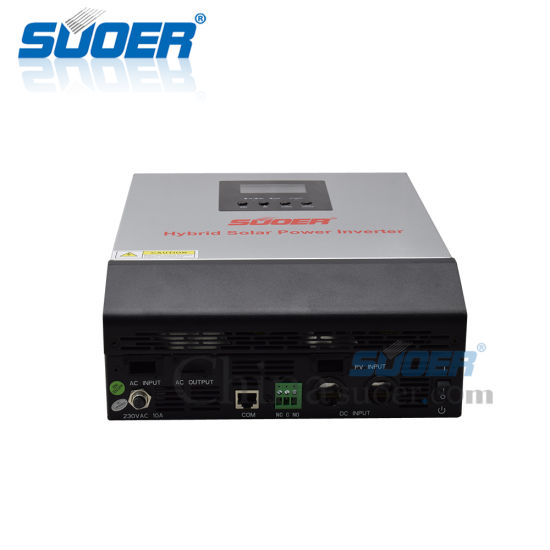 Suoer Hybrid Solar Power Inverter 12V DC to 230V AC 50A Charge Inverters with LCD Display pictures & photos