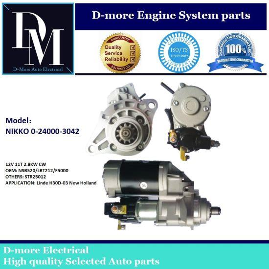 Nikko 0240003042 0240003041 0240003040 Starter Motor 24V 11t 4.5kw