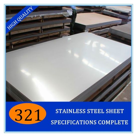 ASTM A248 321/ 321H/ 1.4541 Hot-Rolled 2b/Ba/8K Stainless Steel Sheet for Chemical Industry