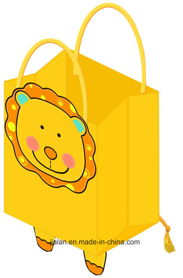 Cute Colorful Gift Shopping Paper Bag with Twisted Handles