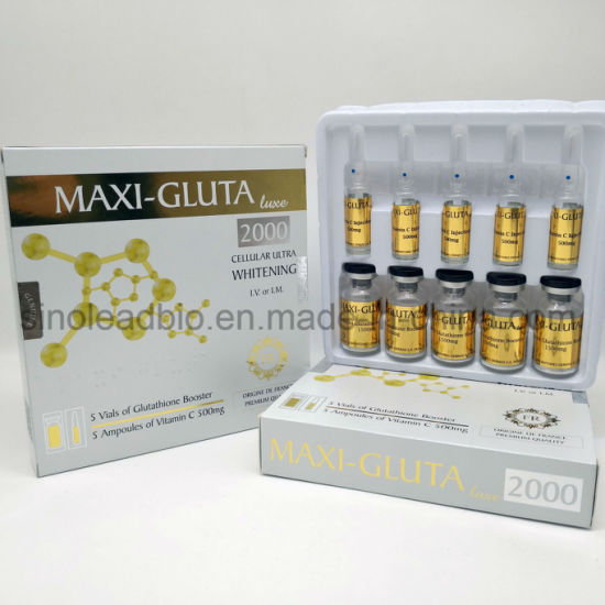 Malaysian Whitening 1500mg Glutathione with Vitamin C 500mg for Injection