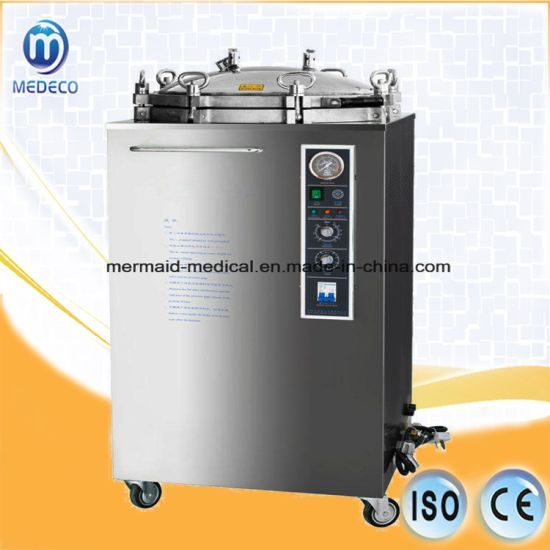 Vertical Autoclave Big Volume Vertical Pressure Steam Sterilizer Me-Lx-B100L Medical Equipment pictures & photos