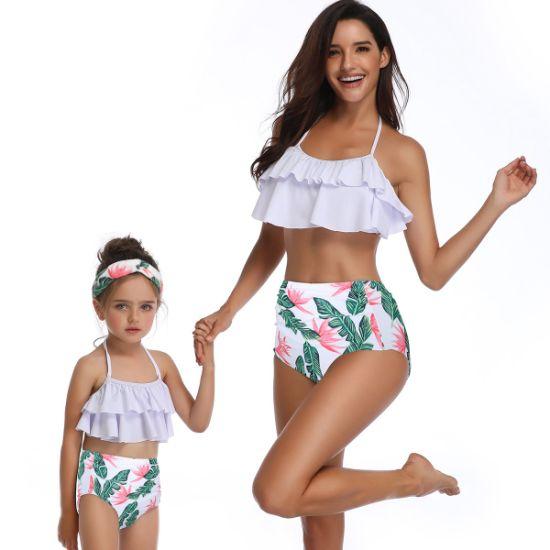 Seaside Gale Falbala High Waist Bikini Set Women Summer Sexy Swimsuit Cute Bikinis