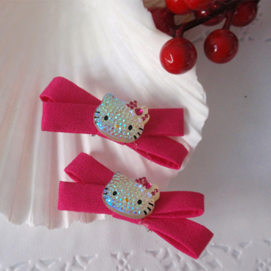 Crystal Hair Accessories Hello Kitty Clips For S