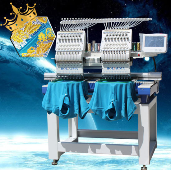 Easy Operation China Made Double Head Computerized Embroidery Machine with Dahao Screen Price Tajima Type pictures & photos