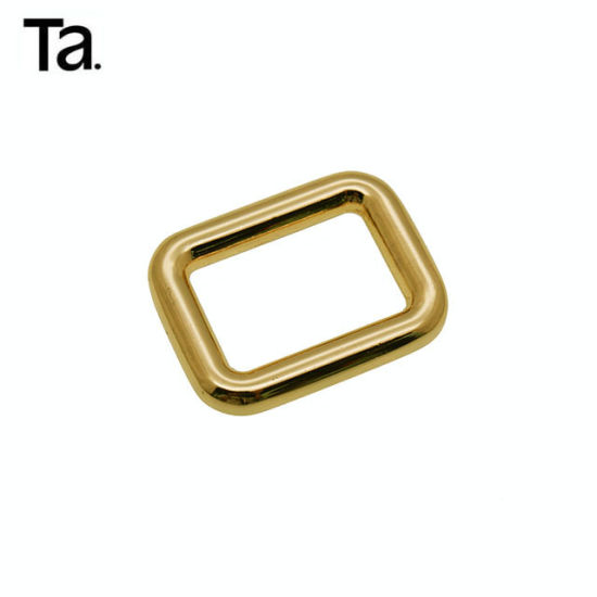 Golden Plating Metal Square Ring Buckle for Leather Handbags