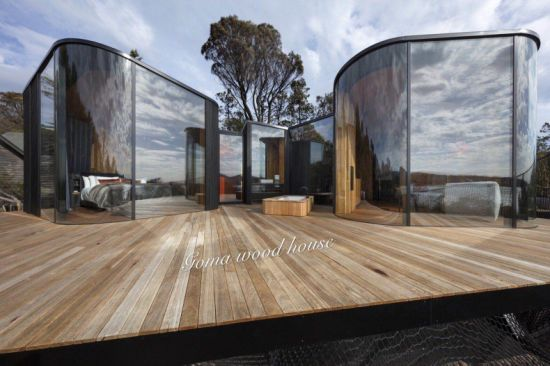 China Back-to-Nature, a Luxe Prefab Wood Pavilions - China