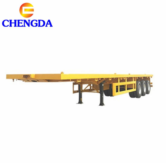Top Quality Flatbed Container Semi Trailer for Sale
