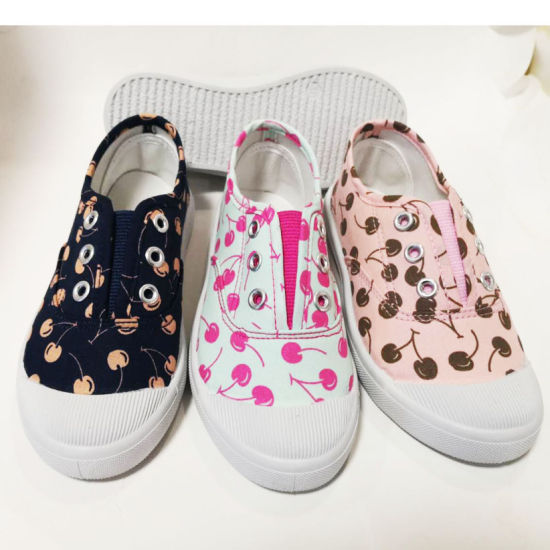Factory Price Children Injection Canvas Shoes Casual Sneaker Shoes (HH193-11) pictures & photos