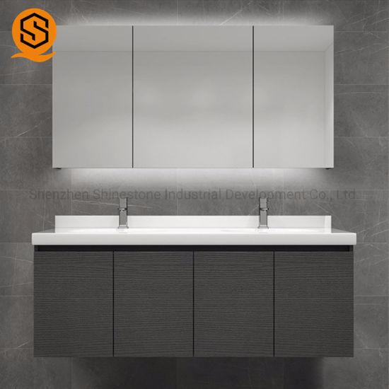 Commercial Bathroom Double Sink Vanity Top Modern Countertop for Hotel
