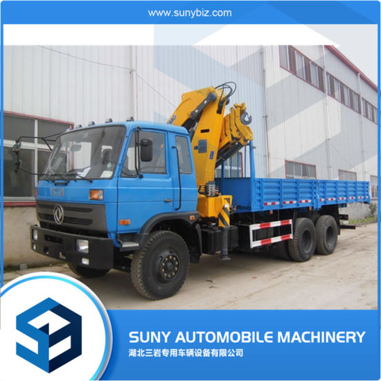 Crane Truck 6 Ton Telescopic Boom Truck Mounted Crane Knukled Folding Truck Mounted Crane Price for Sale