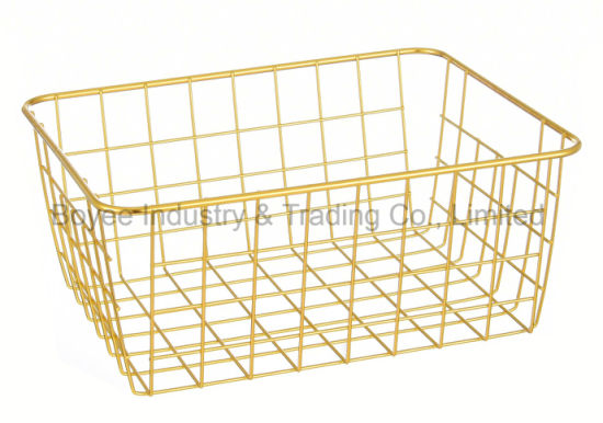 Wholesale Household Bathroom/Kitchenware Storage Stainless Steel & Iron Wire Basket pictures & photos
