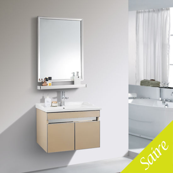 Bathroom Furniture Stainless Steel Cabinet Golden Vanity